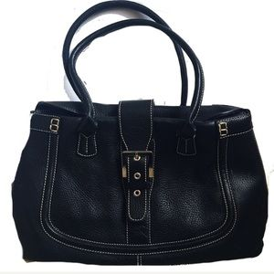 Tod's Black Leather Double Handled Satchel